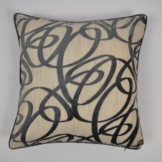 Beckley Swirls Velvet Cushion Cover - Slate Grey