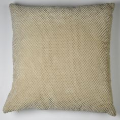 Plain Chenille Spot Cushion Cover - Cream