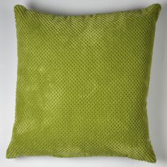 Plain Chenille Spot Cushion Cover - Green