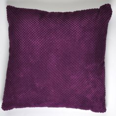 Plain Chenille Spot Cushion Cover - Aubergine Purple