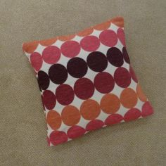 Chilton Spot Cushion Cover - Burgundy Multi