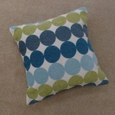 Chilton Spot Cushion Cover - Teal Blue Green