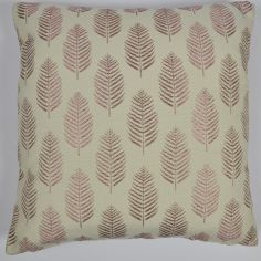 Fern Leaf Cushion Cover - Lilac Purple