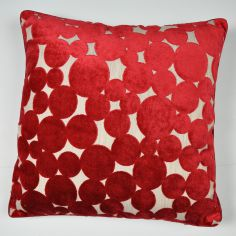 Hayes Spots & Circles Cushion Cover - Red