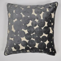 Hayes Spots & Circles Cushion Cover - Slate Grey