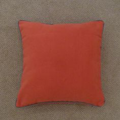 Pasco Plain Self-Piped Cushion Cover - Orange