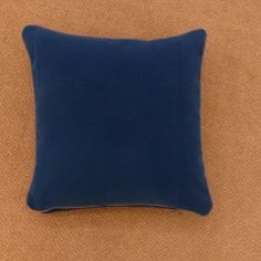 Pasco Plain Self-Piped Cushion Cover - Teal Blue