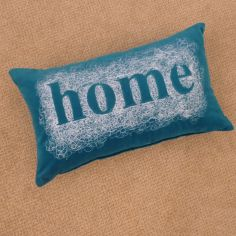 Velvet Home Cushion Cover - Teal Blue