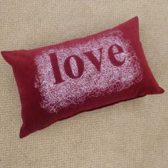 Velvet Love Cushion Cover - Red