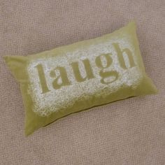 Velvet Laugh Cushion Cover - Green