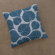 Watson Leaf Cushion Cover - Teal Blue