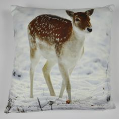 Deer Winter Filled Cushion