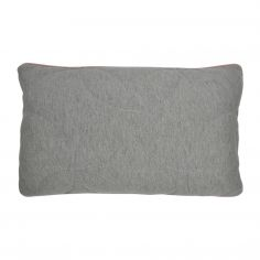 Leo Jersey Boudoir Cushion Cover - Grey/Blush Pink