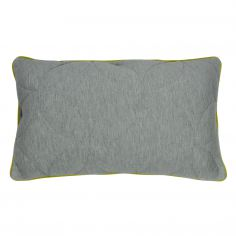 Leo Jersey Boudoir Cushion Cover - Grey/Lime Green