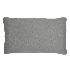 Leo Jersey Boudoir Cushion Cover - Grey