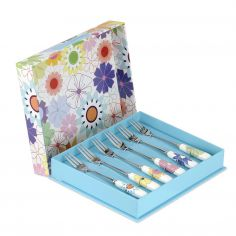 Crazy Daisy Pastry Forks Set of 6