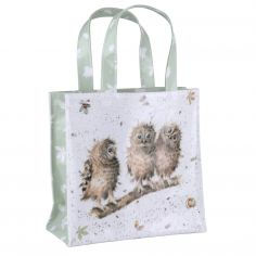 Pimpernel Wrendale Shopping Small PVC Coated Bag - Owls