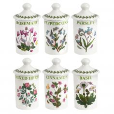 Botanic Garden Herb and Spice Jars Set of Six