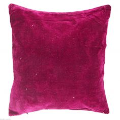 Electra Sparkle Glitter Diamante Cushion Cover - Cerise Pink