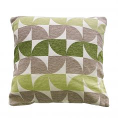 Windmill Geometric Cushion Cover - Green