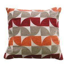 Windmill Geometric Cushion Cover - Red
