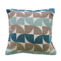 Windmill Geometric Cushion Cover - Teal Blue