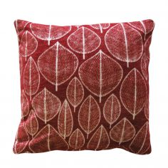 Kirkton Leaf Cushion Cover - Red
