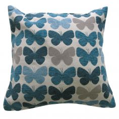 Graze Butterfly Cushion Cover - Teal Blue