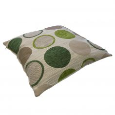 Cortez Chenille Circle Cushion Cover - Green