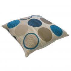 Cortez Chenille Circle Cushion Cover - Teal Blue