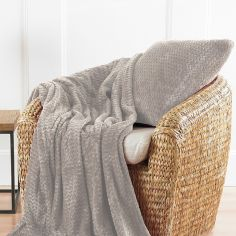 Chevron Striped Jumbo Filled Cushion - Natural