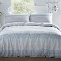 Appletree Lamina 100% Cotton Duvet Cover Set - Blue