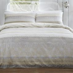 Appletree Lamina 100% Cotton Duvet Cover Set - Natural