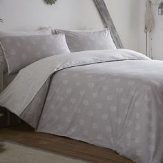 Appletree Shimla 100% Cotton Duvet Cover Set - Silver