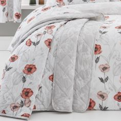 Fliss Floral Quilted Bedspread - Red