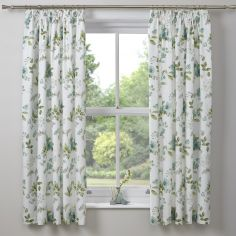 Lorena Floral Tape Top Blackout Curtains - Green