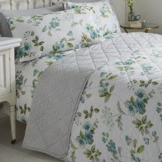 Lorena Floral Quilted Bedspread - Green