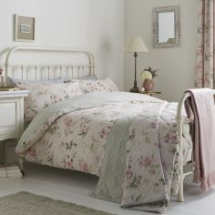 Lorena Floral Duvet Cover Set - Blush Pink