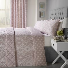 Alford Duvet Cover Set - Blush Pink