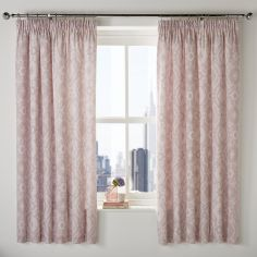 Alford Blackout Tape Top Curtains - Blush Pink