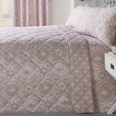 Alford Quilted Bedspread - Blush Pink