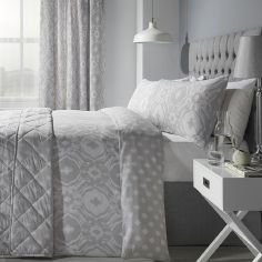 Alford Duvet Cover Set - Silver Grey