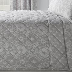 Alford Quilted Bedspread - Silver Grey
