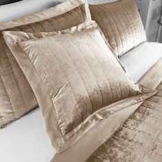 Laurel Crushed Velvet Cushion Cover - Champagne Gold
