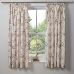 Lorena Floral Tape Top Blackout Curtains - Blush Pink
