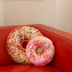 Small Sprinkles Doughnut Cushion - Pink