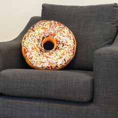 Large Sprinkles Doughnut Cushion - Chocolate