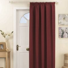 Kent Thermal Blackout Tape Top Door Curtain - Red
