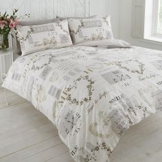 Pure Vintage Duvet Cover Set - Natural Cream