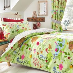Bluebell Woods Reversible Kids Duvet Cover Set - Multi